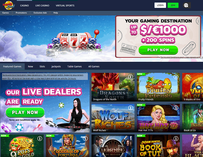 Luckland Online Casino Review