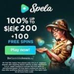 Spela Casino | 100 Free Spins, No Deposit Bonus, Promo Codes