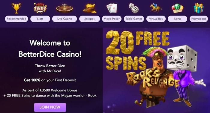 Get 20 No Deposit Free Spins!