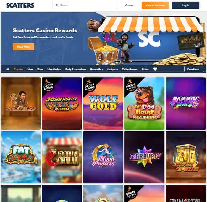 Scatters.com Free Bonus