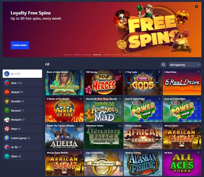 Loyalty Free Spins