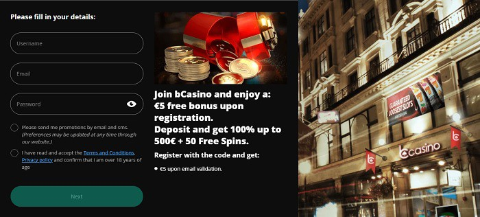 5 euro free bonus for new players