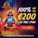 Casino Masters - 30 free spins, no deposit bonus, promotions