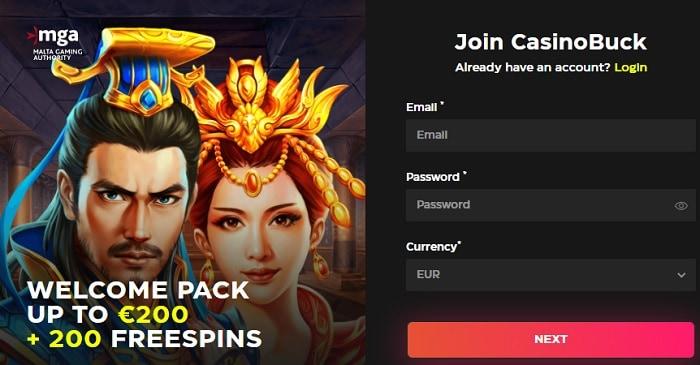 Get 200 free spins on registration!