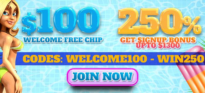 $100 free chip code