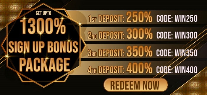 1300% welcome bonus