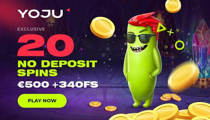 20 exclusive free spins on registration