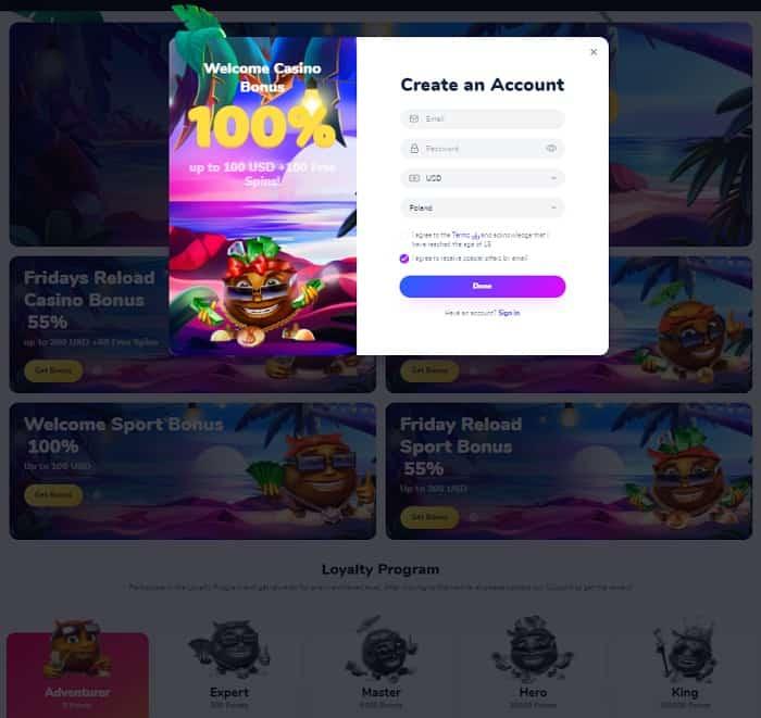 Cocos Bonus Code
