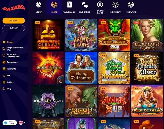 Check new casino games